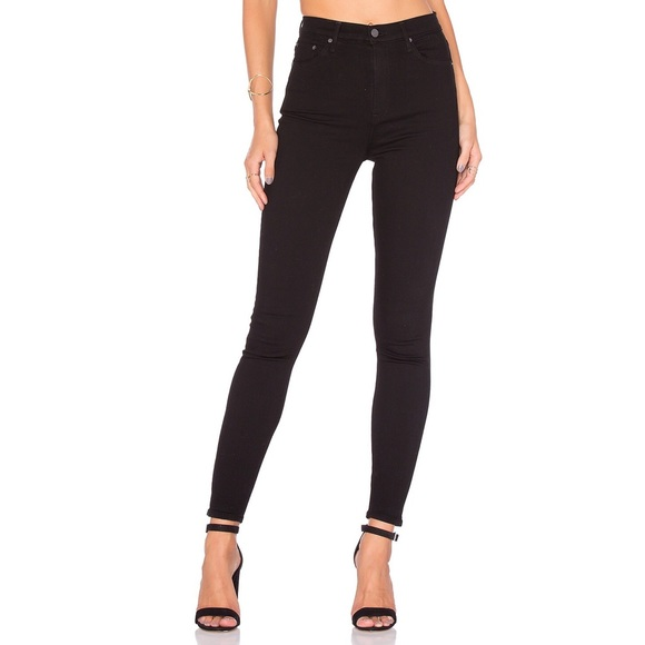 GRLFRND Denim - GRLFRND Kendall High Rise Skinny Jean Black Magic